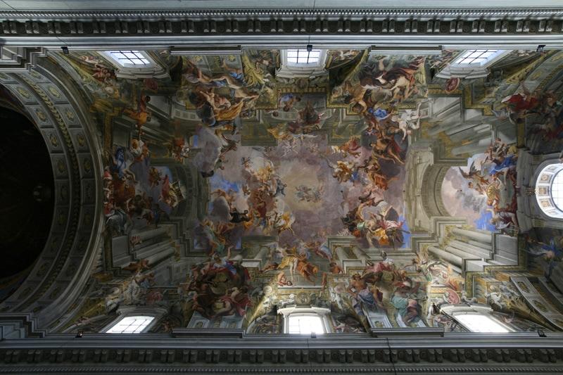 Ceiling in Sant'Ignazio di Loyola church